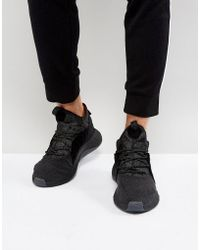 free shipping ed9fa 36566 adidas Originals - Tubular Rise Sneakers In Black By3557 - Lyst