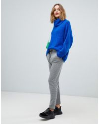 Esprit - Grid Print Soft Tailored Pants - Lyst