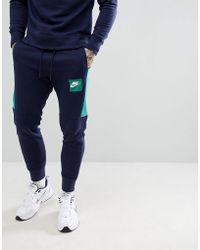 Nike - Air Joggers In Navy 886048-453 - Lyst