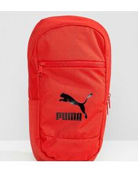 PUMA - Exclusive Cross Body Bag In Red - Lyst