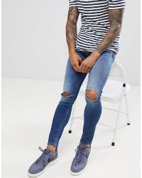 Only & Sons - Jeans With Open Knee In Skinny Fit - Lyst