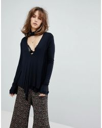 Free People - Uptown Turtle Knit Top - Lyst