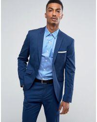 Asos Slim Fit Suit Jacket In Dark Green in Green for Men | Lyst