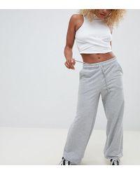ASOS - Asos Design Petite Basic Wide Leg Joggers - Lyst