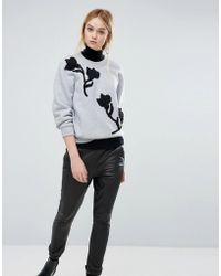 Sportmax Code - Adesso Embossed Sweatshirt - Lyst