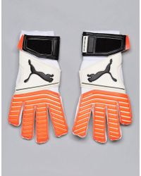 PUMA - One 17.2 Rc Goal Keeping Gloves In White 04132501 - Lyst