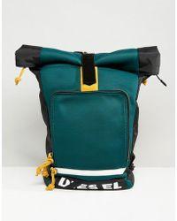 DIESEL - Broken Logo Roll Top Backpack - Lyst