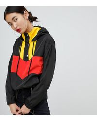 NA-KD - Colourblock Track Jacket In Black/red - Lyst