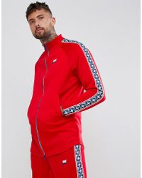 Nike - Track Jacket With Taped Side Stripes In Red Aj2681-657 - Lyst