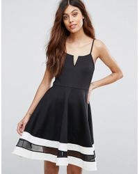 Be Jealous - Skater Dress With Contrast Hem - Lyst