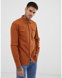 Pull&Bear - Denim Shirt In Rust - Lyst