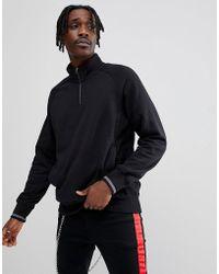 Nike - Everett Half-zip Sweat In Black 885827-010 - Lyst