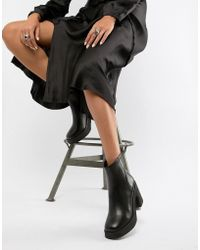 E8 - E8 By Miista Black Chunky Leather Heeled Ankle Boots - Lyst