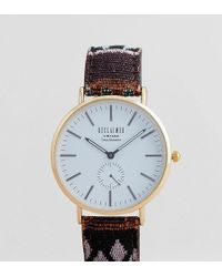 Reclaimed (vintage) - Inspired Aztec Print Strap Watch In Multi Exclusive To Asos - Lyst