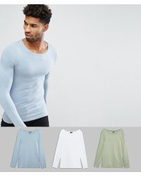 ASOS | Tall Extreme Muscle Fit Long Sleeve T-shirt With Boat Neck 3 Pack