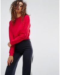 ASOS - Cropped Sweatshirt - Lyst