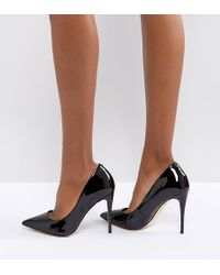 ALDO - Wide Fit Black Pointed Court Shoes - Lyst