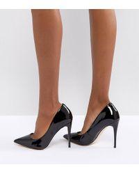 ALDO - Wide Fit Black Pointed Pumps - Lyst