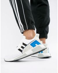 adidas Originals Eqt Support Mid Adv Trainers In White Cq2997 in ... 5aa32cb245f6