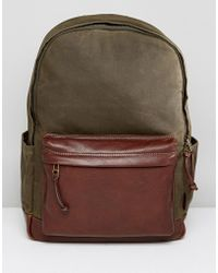 Fossil - Defender Backpack In Waxed Canvas - Lyst