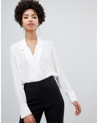 Vero Moda - Wrap Front Shirt Body - Lyst