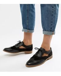 ASOS - Design Milton Leather Flat Cut Out Brogue - Lyst