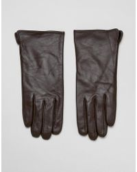 Barneys Originals - Touch Screen Compatible Real Leather Gloves - Lyst