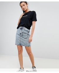 Noisy May Tall - Acid Wash Skirt - Lyst