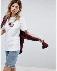 Vans - Oversized T-shirt With Logo In White - Lyst