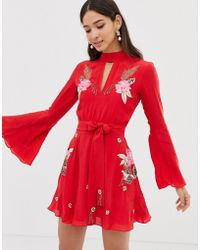 Millie Mackintosh - Rose Embroidered Skater Dress - Lyst