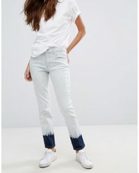 French Connection - Tie Dye Cuff Jeans - Lyst