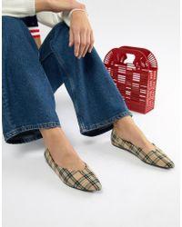 Bershka - Check Flat Shoe - Lyst