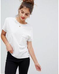 Bershka - Contrast Stitch T Shirt - Lyst