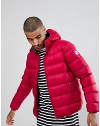 North Sails - Hooded Down Puffer Jacket In Red - Lyst