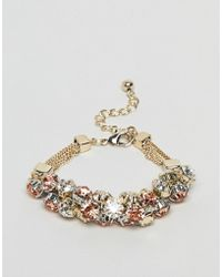 Coast - Crystal Cluster Chain Bracelet - Lyst