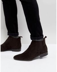 New Look | Faux Suede Chelsea Boots In Dark Brown | Lyst
