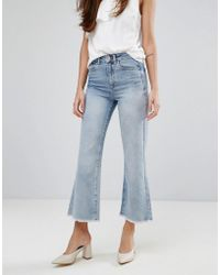 Warehouse | Bleached Cropped Flare Jeans | Lyst