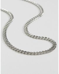 ASOS DESIGN - Midweight Chain In Silver Tone - Lyst