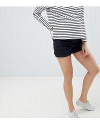 ASOS Asos Design Maternity Ritson Mom Short In Washed Black