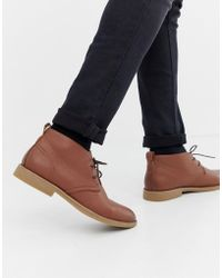 New Look - Faux Leather Desert Boots In Tan - Lyst