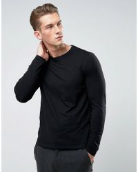 ee6f4972a ASOS Oversized Long Sleeve T-shirt In Loose Mesh in Black for Men - Lyst