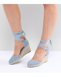 Truffle Collection - Wide Fit Espadrille Wedge - Lyst
