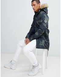 Hype - Parka Jacket In Camo - Lyst