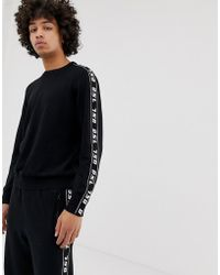DIESEL - K-tracky-a Jumper In Black With Taping - Lyst