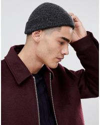 7477bd412b7 Asos Mini Fisherman Beanie In Red Brushed Yarn in Red for Men - Lyst