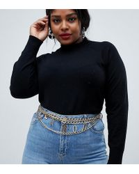 ASOS - Asos Design Curve L'amore Chain Waist And Hip Belt - Lyst