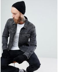ASOS - Lambswool Fisherman Beanie & Gloves Boxed Gift Set In Black - Lyst