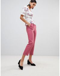 Fashion Union - High Waist Tailored Trousers - Lyst