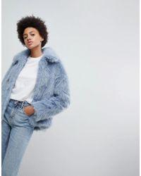 Weekday - Faux Fur Jacket - Lyst