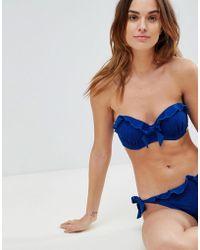 Lipsy - Lace Frill Cup Bikini Top B-d Cup - Lyst